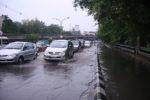 Heavy rains cause extensive waterlogging in Delhi, traffic movement affected