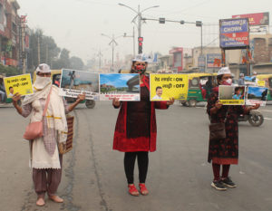Red Light On, Vehicle Off campaign, Delhi air pollution